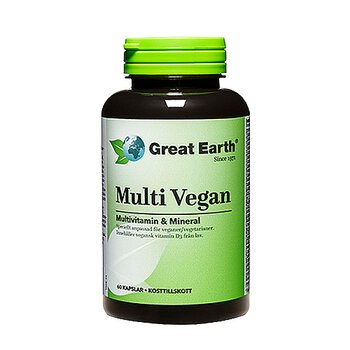 Great Earth Multi Vegan, 60 kapslar