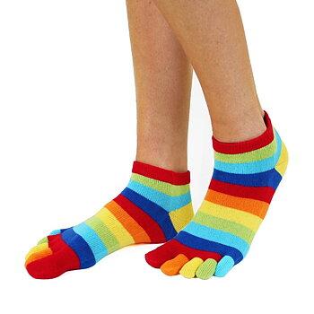 ToeToe Essential Anklet teensokken - Rainbow