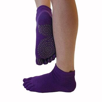 ToeToe Yoga & Pilates antislip enkelsokken - Donkerpaars