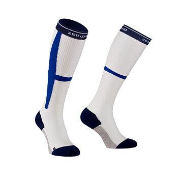 ZeroPoint Hybrid Sock kompressiosukat, sinivalkoinen