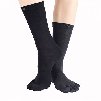 ToeToe Outdoor - Teensokken van wol, zwart