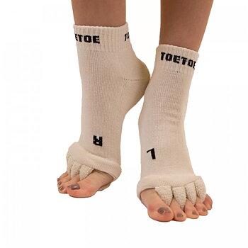 ToeToe Health - Tåskiller-sokk, cream