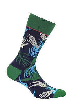 Funq Wear blå bambussokker med blader 42-45