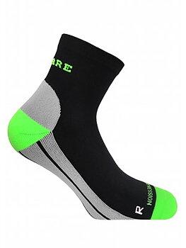 Ankelhøje  kompressionssokker, sort og grøn