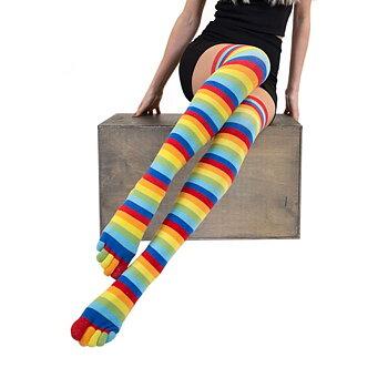 ToeToe overknee sokken Striped Rainbow