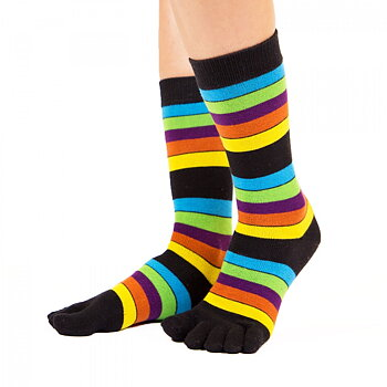 ToeToe Essential teensokken - Striped Neon