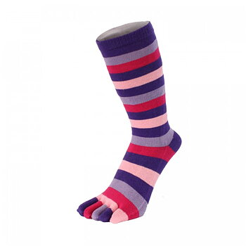 ToeToe Essential teensokken - Striped Lila