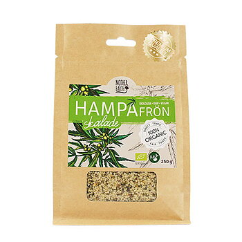 Hampafrön raw eko, 250g