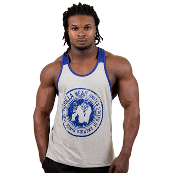 Roswell Tank Top, grey/navy