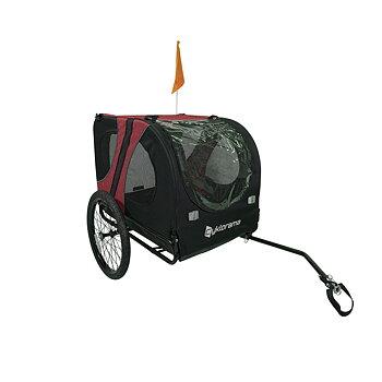 Cykelvagn för hund (Medium) - Cyklorama® (röd/svart)