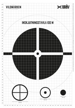 Inskjutningstavla A3, 5-pack