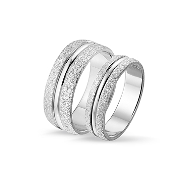 set of 50 rings open silver shiny 8 mm