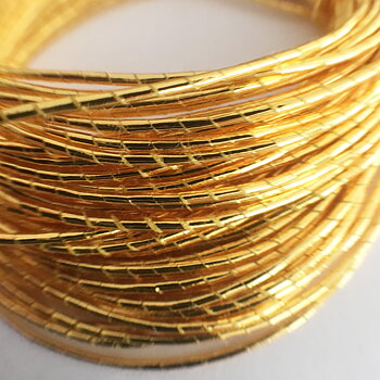 Metallic thread for embroidery antique gold ca 1 mm