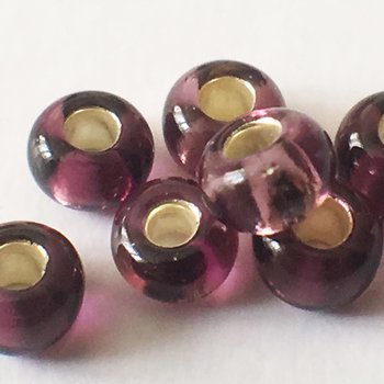 Seed beads 9/0 Plum foil Embroidery beads 5435