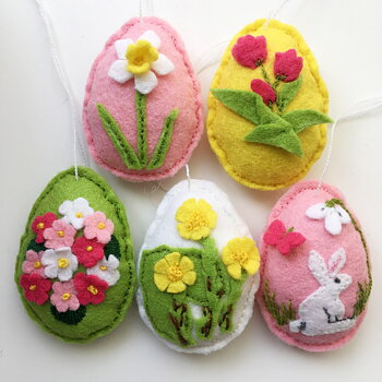 Kit DIY made of decorative felt Easter Eggs