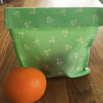 Beeswax Wraps Bag Retro Green Small