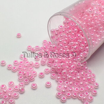 Seed beads 9/0 pink pearl Embroidery beads 4965