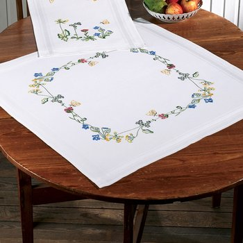 Summer table cloth 80c80 cm Drawn embroidery by Permin 27-7866