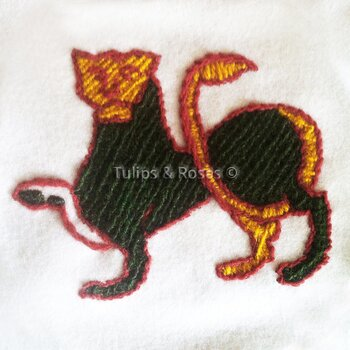 Crewel embroidery kit Lion bayeux-stitches