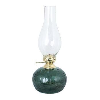 Fotogenlampa, Oval med rand gröngrå, från Strömshaga