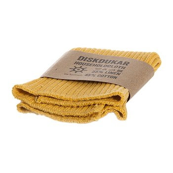 Diskduk, lin och bomull dov gul, från Iris Hantverk