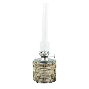 Fotogenlampa, Stor rak i flätad korg, från Strömshaga