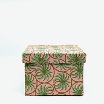 Låda med lock, Cubic box Leela Moss stor, från Bungalow - Korgcenter.se