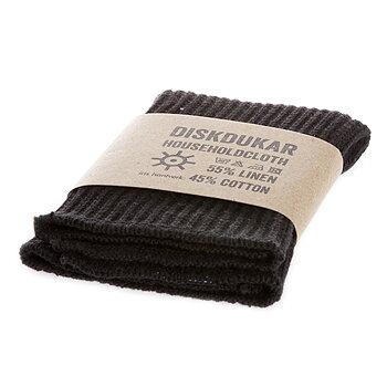 Diskduk, svart,  från Iris Hantverk
