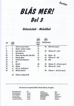 Blås Mer! del 3 piano, partitur