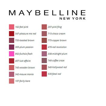 Läppstift Color Sensational Maybelline, Färg: 540-hollywood red 5 ml