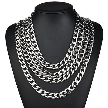Stainless steel necklace   11mm-500mm