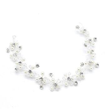 Kvinnor hårband  bröllop diadem pärla Kristall