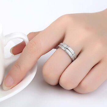 Ring stainless steel Double Row