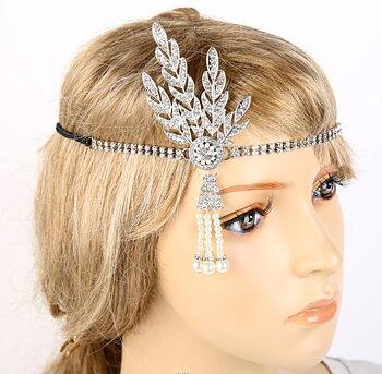 Great Gatsby 1920 Vintage diadem tiara