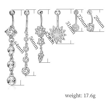 Navel Piercing 6 pcs/set