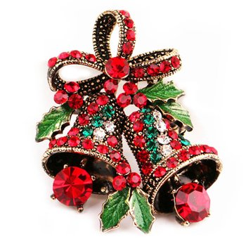 Crystal Brooch Christmas
