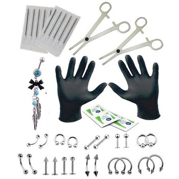 Piercing Set 40 PCS Human Body Piercing Ornament Set Tool