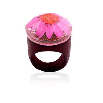 Resin wooden ring creative handmade