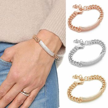 Guldpläterade armband Kristall