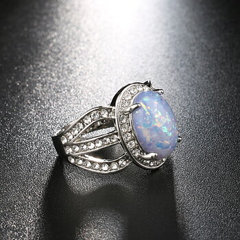 Silversmycken filled ring Opal