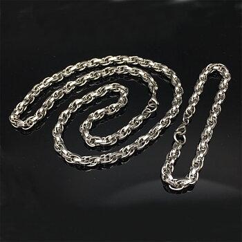 Rostfritt stål halsband + armband Set 5MM
