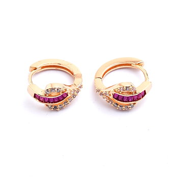 18k Gold Filled Lady Earrings CZ