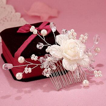 Bröllop pärla hår klämma