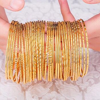 Guldpläterande 18K guldarmband