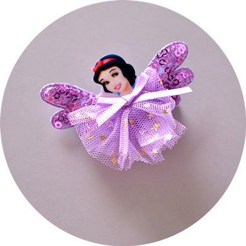 1 PAIR Kids, Girls, Princess Flower Hairclips
