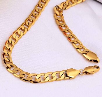 18k gold filled necklace 45CM*10MM