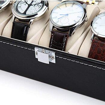 Klockor displaycase PU läder förvaringslåda  10