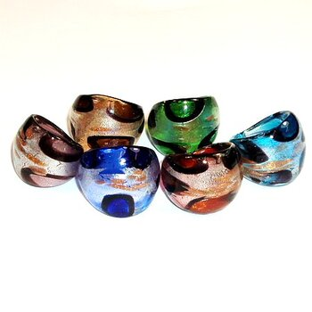 RING glas Murano  3st pack mix