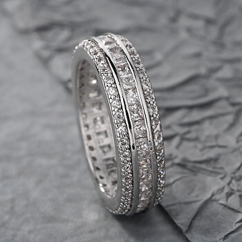 18K WHITE Gold Filled  RING