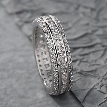 18K VIT Guld Filled gulddoublé Ring